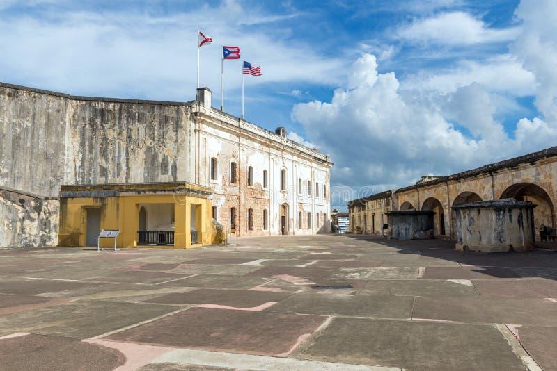 Историческая крепость в старом Сан-Хуане, Пуэрто-Рико стоковая фотография rf