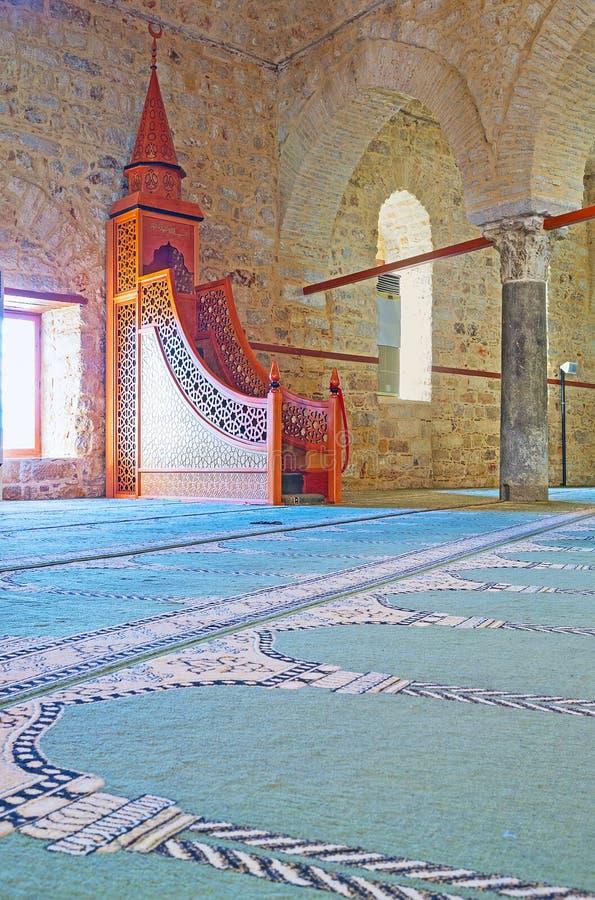 Историческая мечеть Seljuk Alaaddin в Анталье стоковое фото