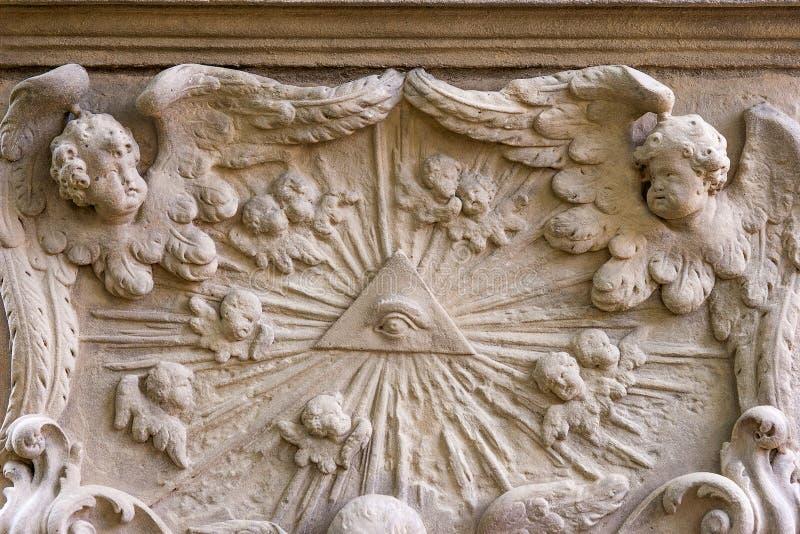 Историческая немецкая надгробная плита стоковые изображения rf