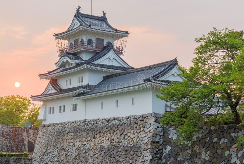 Историческая достопримечательность замка Toyama в toyama Японии с красивым s стоковое фото