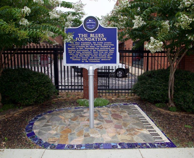 Историческая отметка на здании мемориала син в Мемфисе, TN стоковое фото