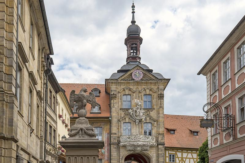 Историческая ратуша Бамберга, Германии стоковая фотография rf