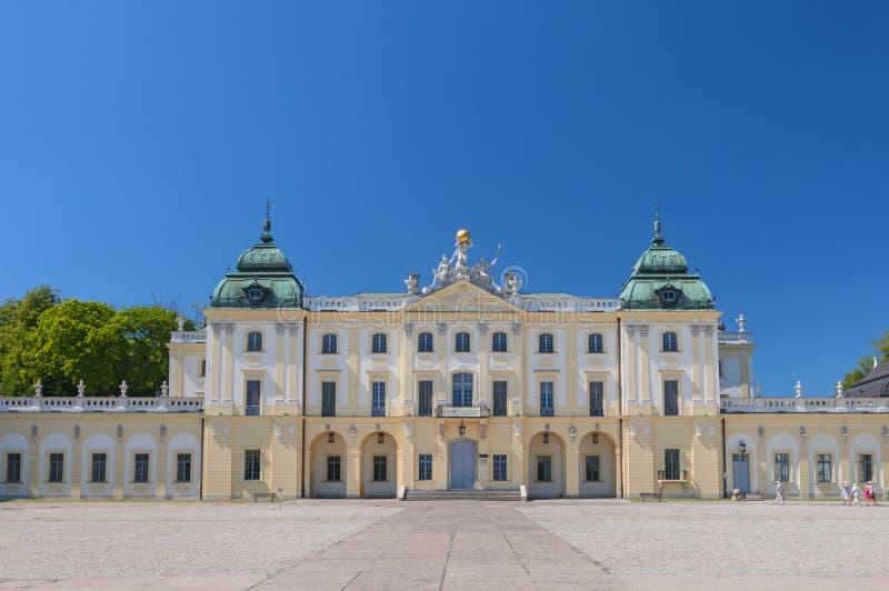 Историческая резиденция польского магната Klemens Branicki, дворца Branicki в Bialystok, Польше стоковое изображение