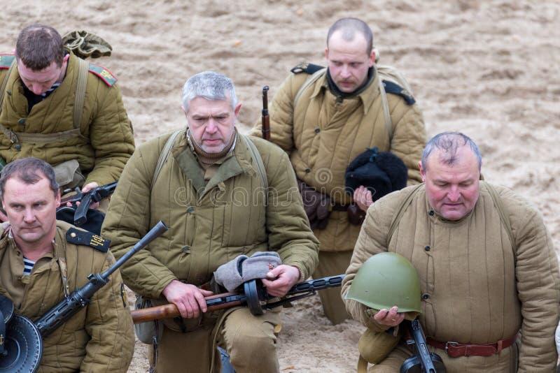 Историческая реконструкция Второй Мировой Войны, стоковые фото