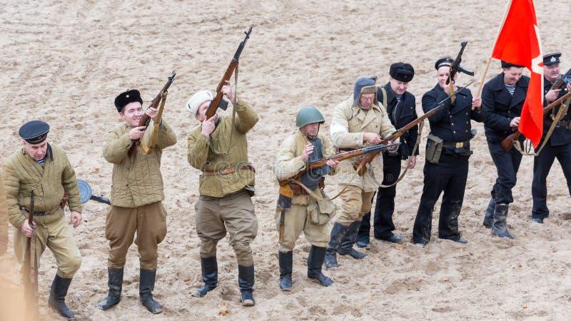 Историческая реконструкция Второй Мировой Войны, стоковая фотография