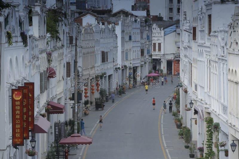 Историческая старая улица в Хайнане, Китае стоковые изображения