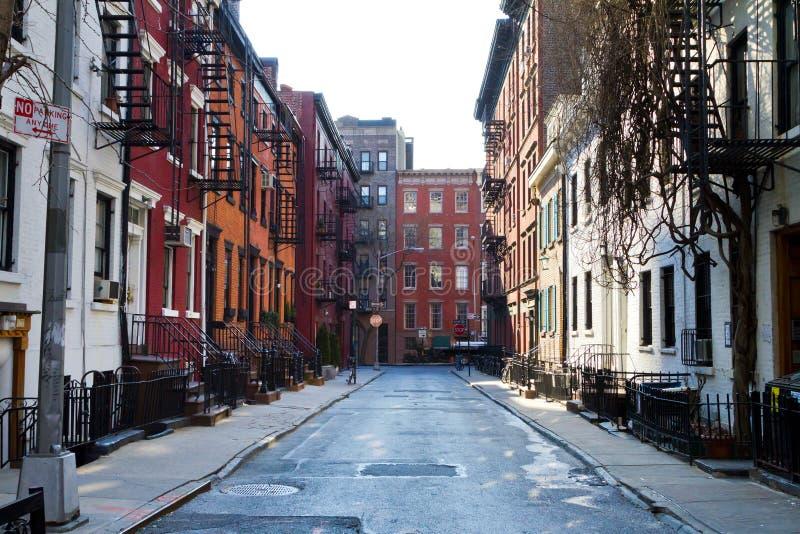 Историческая улица гомосексуалиста в Нью-Йорке стоковое фото rf
