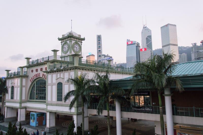 Историческая центральная пристань парома звезды в Гонконге стоковые фотографии rf