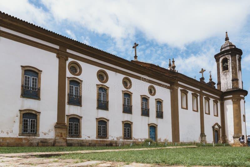 Историческая церковь в Ouro Preto, минах Gerais, Бразилии стоковые фотографии rf