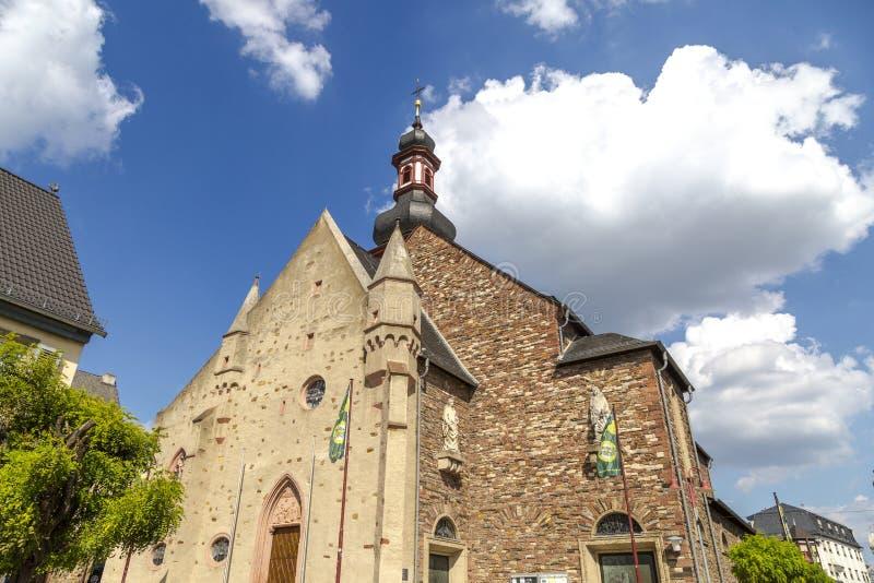 Историческая церковь в Rudensheim стоковая фотография