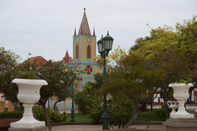 Историческая церковь в Taltal, северной Чили стоковая фотография