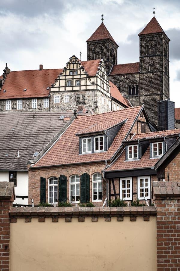 Историческая церковь Stiftskirche в Кведлинбурге, Германии стоковая фотография