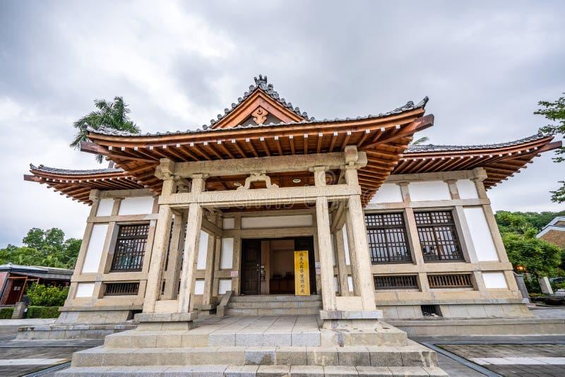 Историческая школа Kendo, квадрат Takenori Hall зал Butokuden, построенный в японском колониальном периоде в Kaohsiung, Тайвань стоковое фото