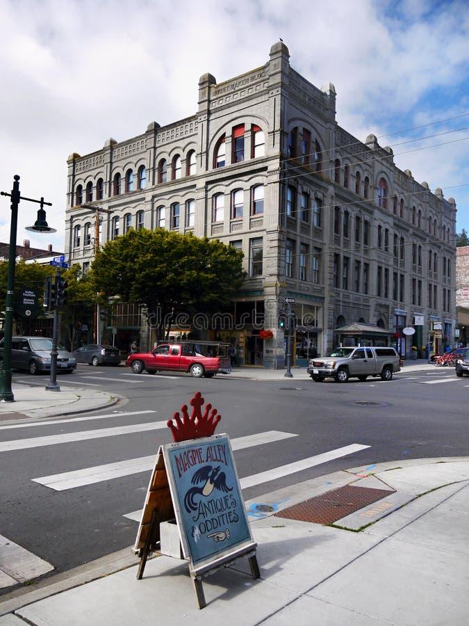 Исторические викторианские здания, порт Townsend, Вашингтон, США стоковые изображения