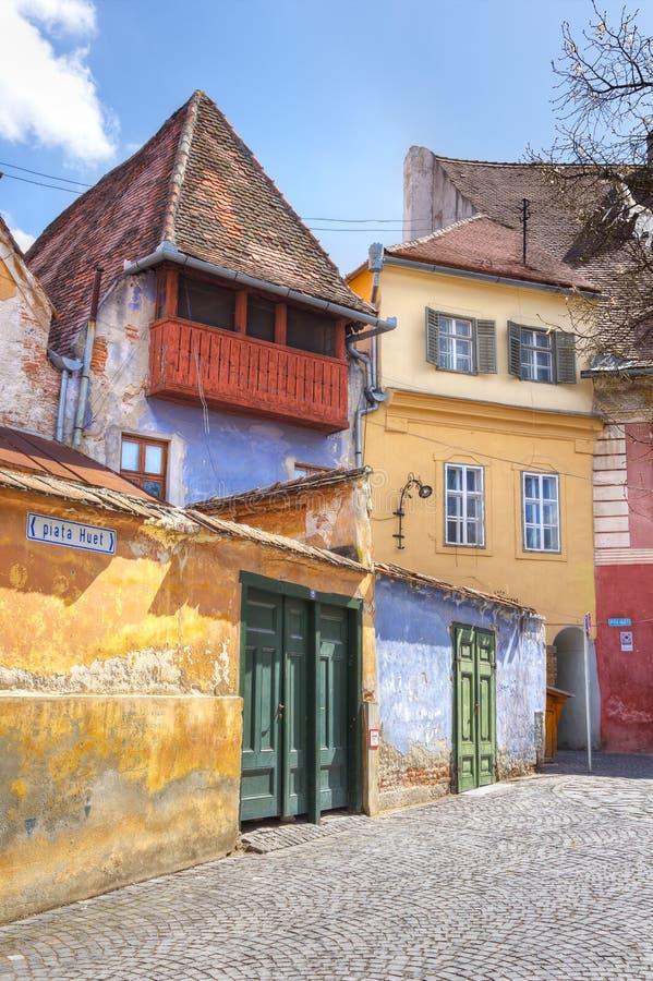 Исторические дома Сибиу, Трансильвании, Румыния стоковые фото