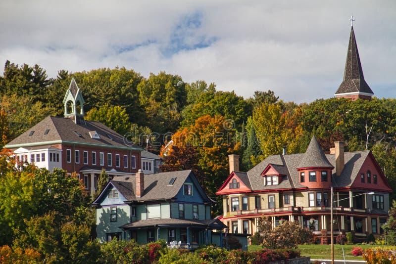 Исторические дома Bayfield стоковое изображение