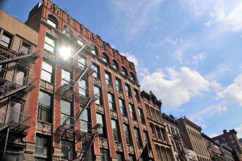 Исторические здания в городе Нью-Йорка стоковые фото