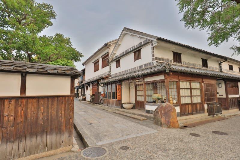 исторические здания на Bikan расквартировывают в Kurashiki стоковые фото