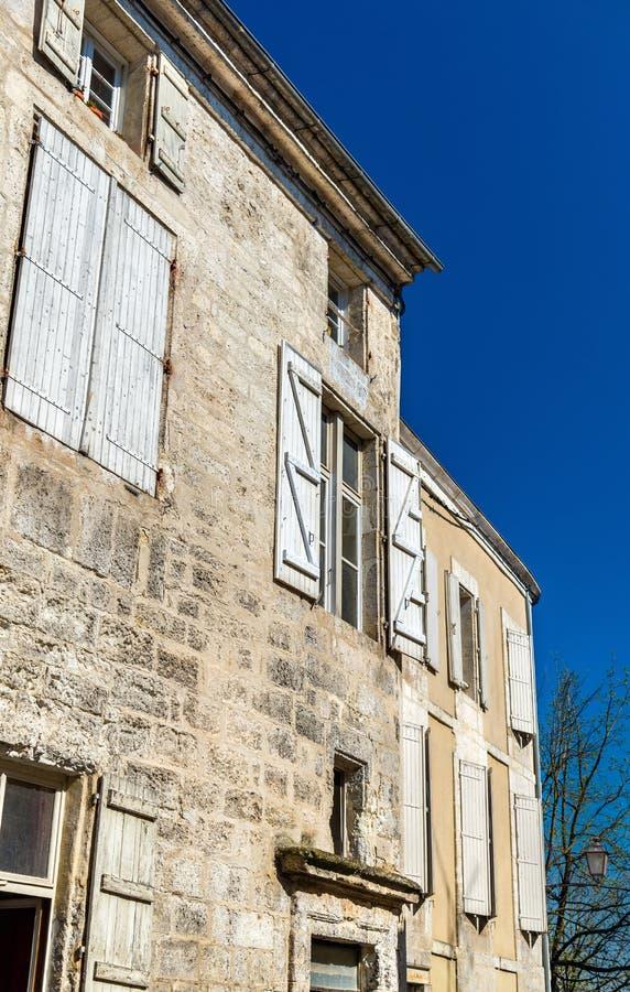 Исторические здания в Angouleme, Франции стоковая фотография
