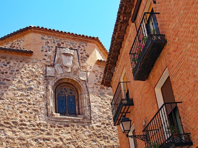 Исторические камень и кирпичные здания, Toledo, Испания стоковая фотография rf