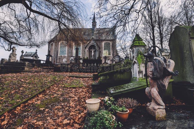 Исторические кладбище и часовня в Генте, Бельгии стоковые фото