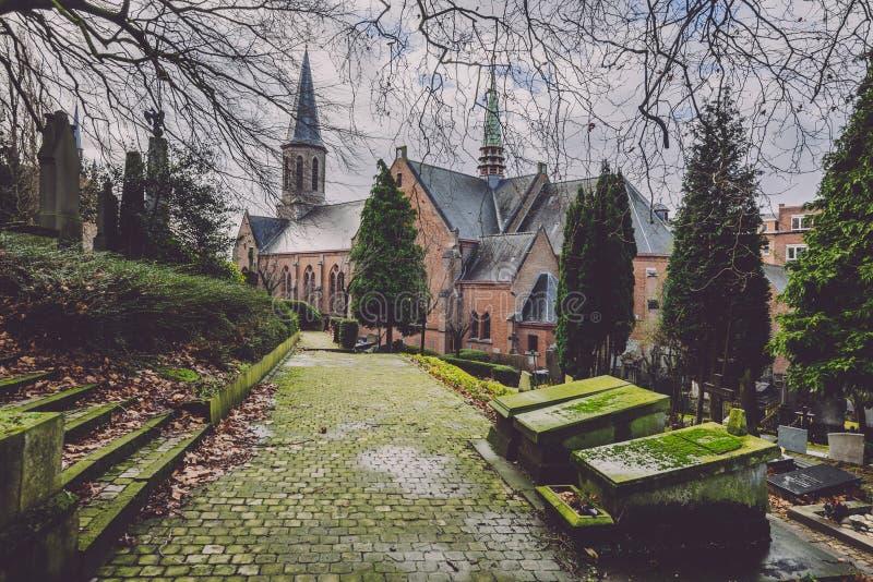 Исторические кладбище и часовня в Генте, Бельгии стоковое фото
