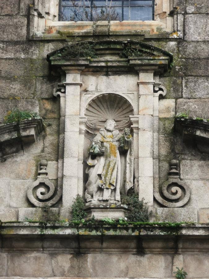 Исторические памятники города вызвали Tui В Галиции северо-западной Испании стоковое фото