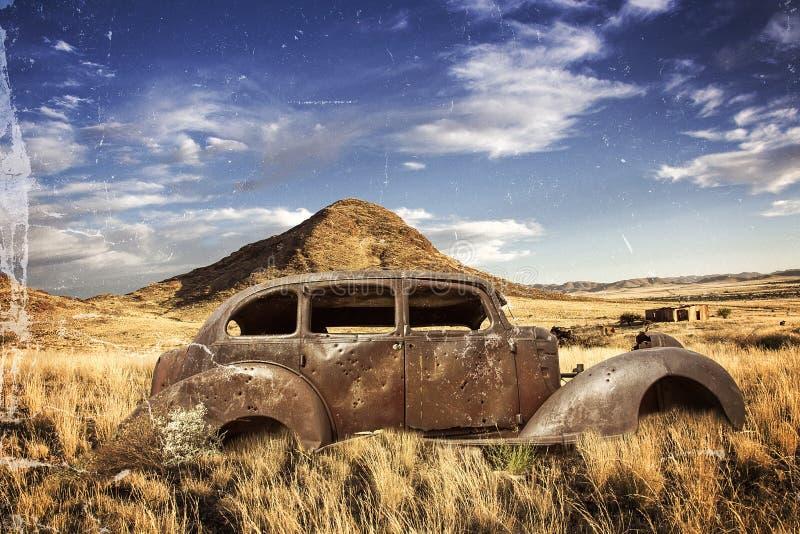 Исторические пулевые отверстия автомобиля стоковая фотография