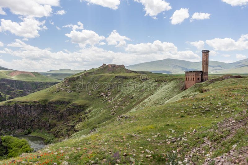 Исторические руины ани, Kars Турция стоковые изображения