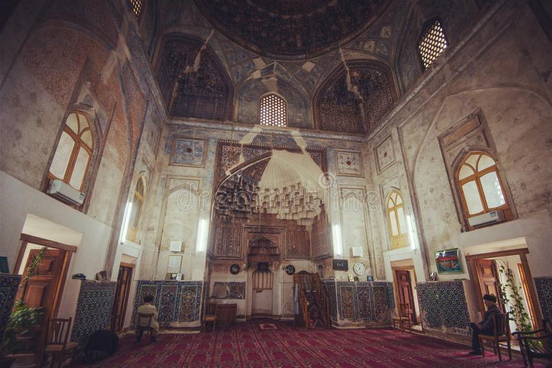 Исторические старые здание ислама и внутренность руин башни, Бухара, Узбекистан стоковая фотография