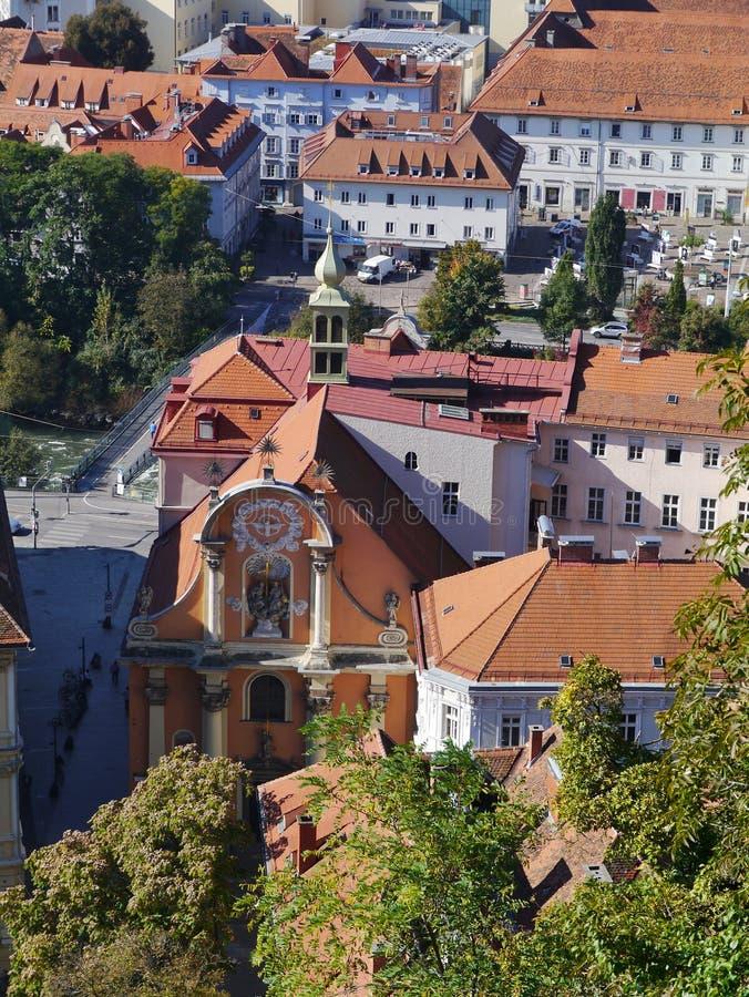 Исторический австрийский город Грац стоковое фото
