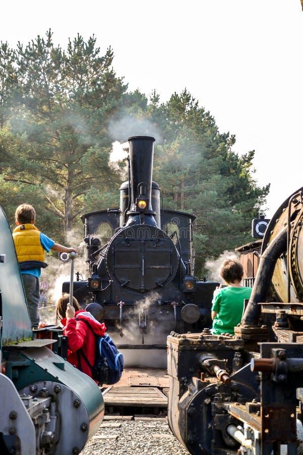 Исторический австрийский локомотив пара стоковые изображения