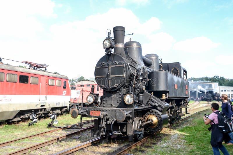 Исторический австрийский паровой двигатель 3033 шунтируя стоковые фото