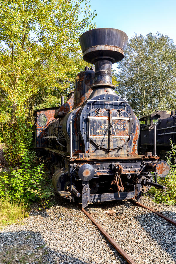 Исторический австрийский паровой двигатель 55 стоковая фотография rf