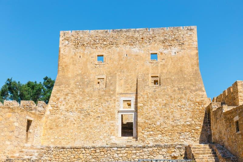 Исторический венецианский форт Kazarma Крит sitia стоковая фотография