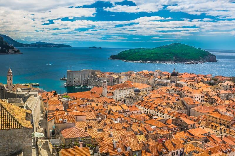 Исторический город Дубровник в Хорватии, Европе стоковые изображения