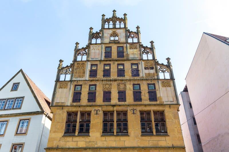 Исторический город квартальный Билефельд Германия стоковые изображения rf