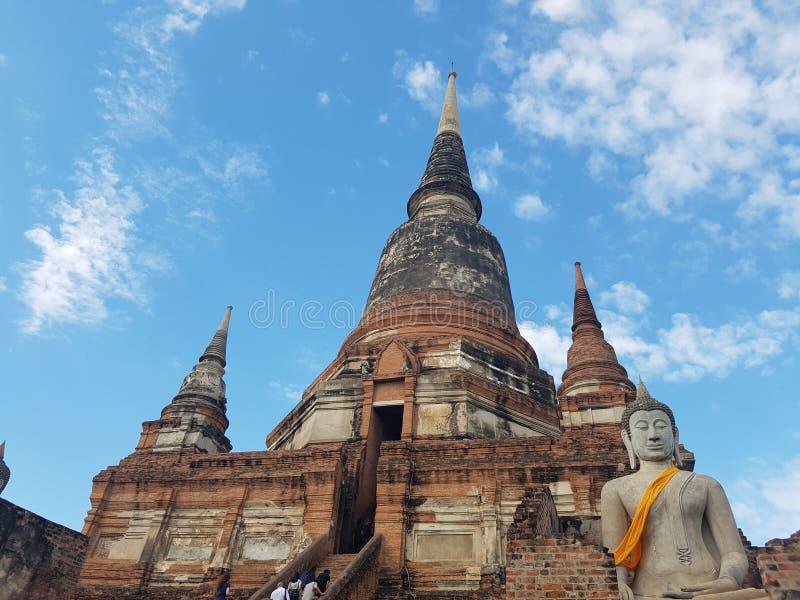 Исторический город Ayutthaya, Таиланда Wat Mahathat, Wat Phra Sri Sanphet, Wat Chaiwatthanaram, Ram Wat Phra стоковое фото rf