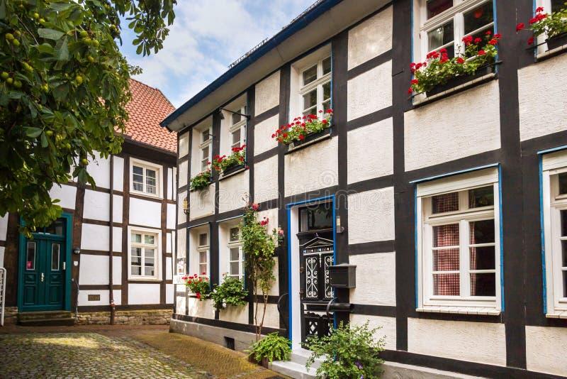 Исторический город unna в германии стоковые фотографии rf