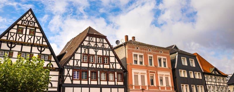 Исторический город unna в германии стоковое изображение rf