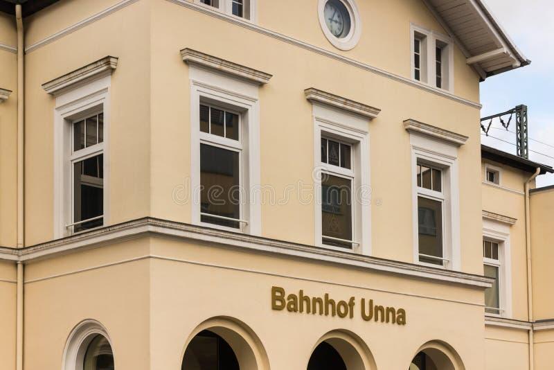 Исторический город unna в германии стоковая фотография