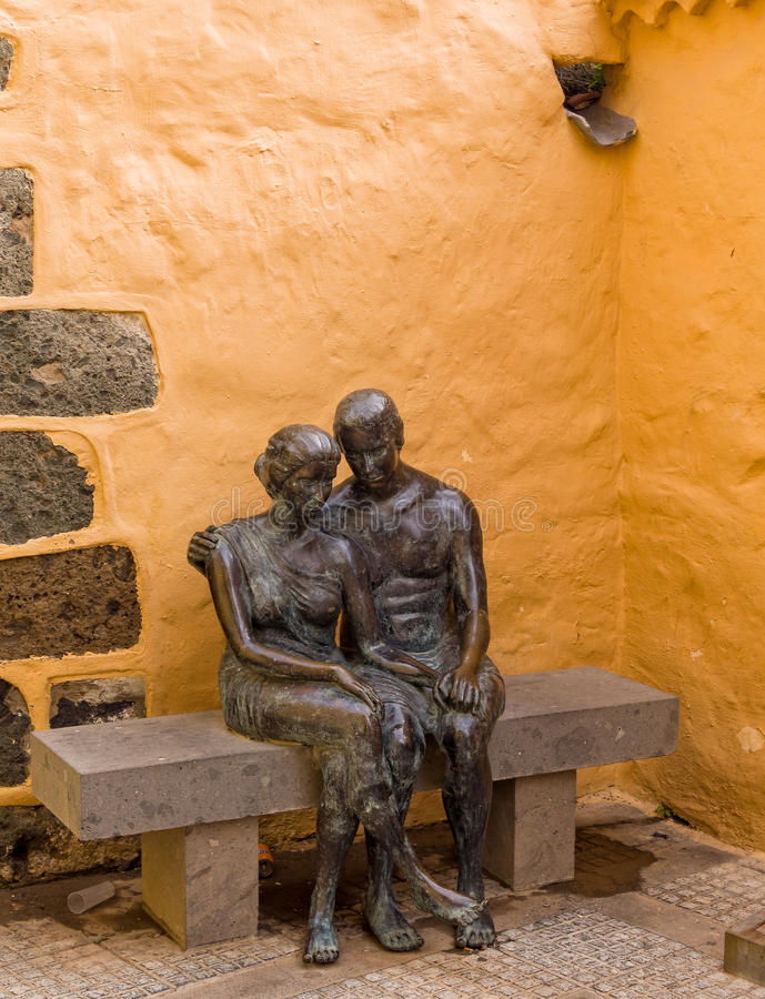 Исторический городок Gran Canaria Испания Aguimes стоковое фото