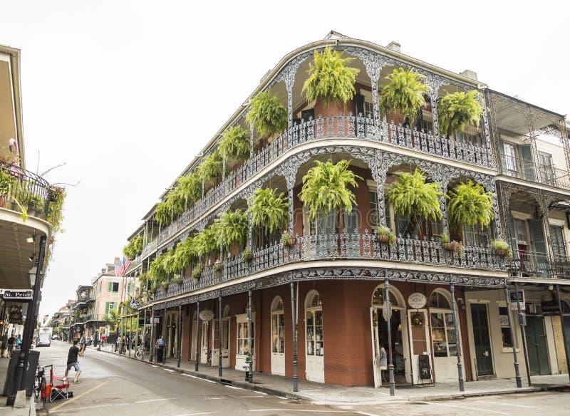 Исторический дом в французском квартале Нового Орлеана стоковые фотографии rf