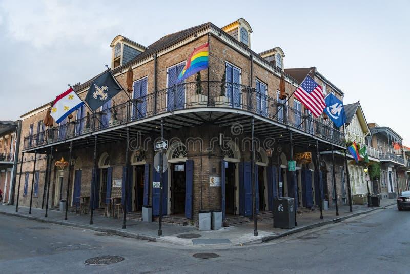 Исторический дом в французском квартале Нового Орлеана стоковое фото