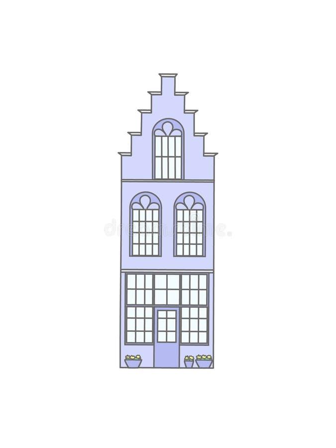 Исторический дом Европы иллюстрация вектора