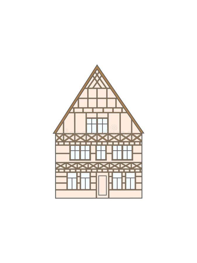 Исторический дом Европы бесплатная иллюстрация