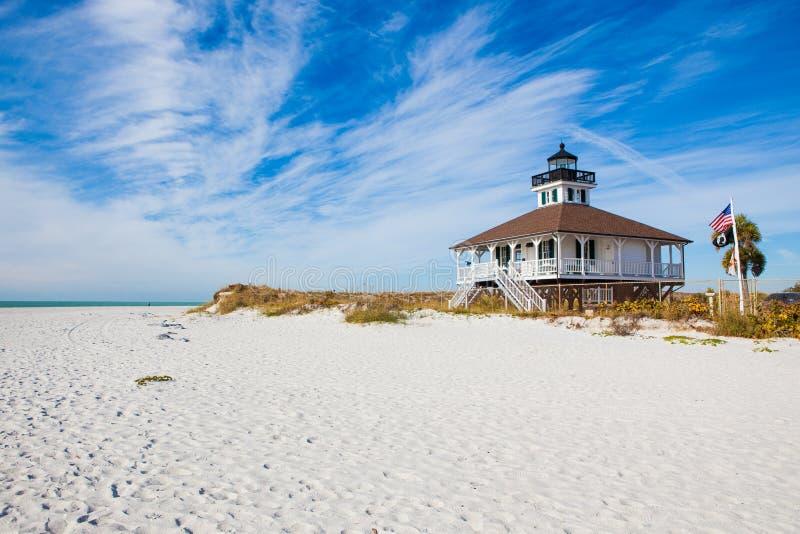 Исторический маяк в Флориде стоковые изображения rf