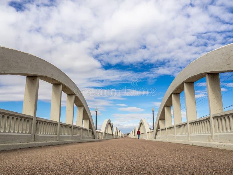 Исторический мост радуги, форт Морган, Колорадо стоковая фотография rf