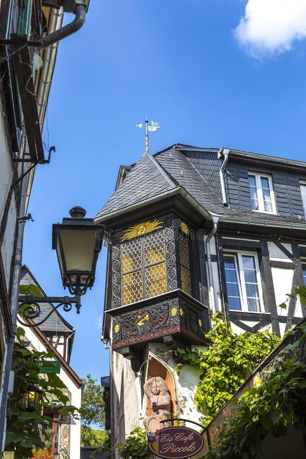 Исторический дом в немецкой деревне стоковое фото rf