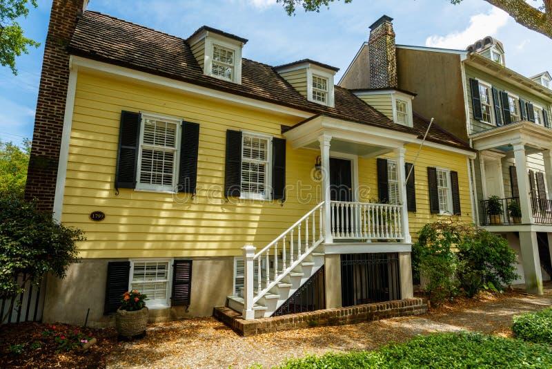 Исторический дом саванны стоковая фотография
